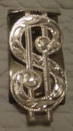Sterling Overlay Money Clip - Pattern 663