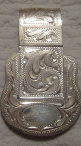 Sterling Overlay Money Clip - Pattern 664