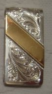 Sterling Overlay Money Clip - Pattern 662