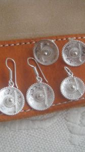 Sterling Silver Mexican Sombrero Earrings
