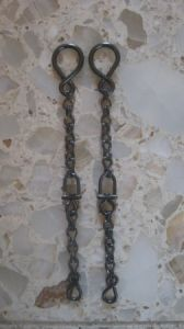 "BBR-08 Rein Chains - 9"" long with swivel in the center"