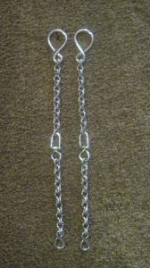 "BBR-07 Rein Chains - 12"" long with a swivel in the center"