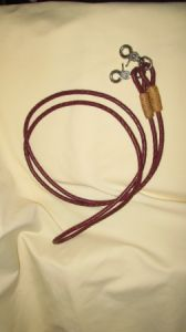 Deluxe Roping Reins - Latigo with Rawhide & snaps