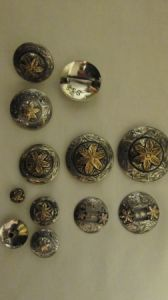 Sonoita Conchos - German Silver with JB Flower (#400)
