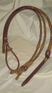 Harness/Rawhide Romal Reins - 12 plt. California Style