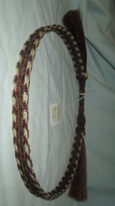 HORSEHAIR HAT BAND - 4 STRANDS -- BROWN & WHITE