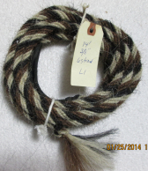 Barber Pole - Pattern L1 Get Down Rope (Mane Horsehair)