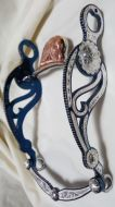 Medium & Small Concho Silver Inlay Bit - Blued