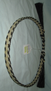 HORSEHAIR HAT BAND - 4 STRANDS -- BLACK & WHITE