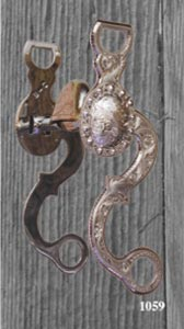 Concho Silver Inlay Bit - Brown