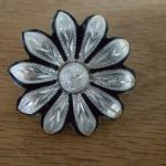 "Santa Clara (aka Daisy Concho - #250) BROWN with Silver Inlay --  1 3/4"" with Chicago Screw"