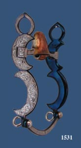 Crescents Silver Inlay Bit - Blued