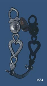 Four Hearts Silver Inlay Bit - Black