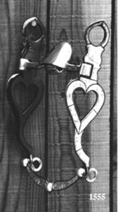 Single Heart Silver Inlay Bit - Black