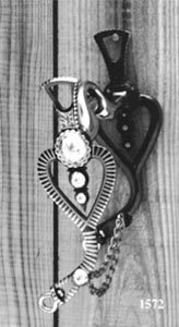 Conchos & Striped Heart Silver Inlay Bit - Black