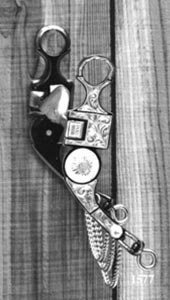 Concho Silver Inlay Bit - Black