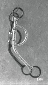 Silver Overlay Light Rod Cheek Snaffle Bit