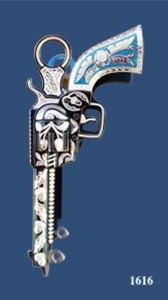 Pistol Silver Inlay Bit - with Turquoise