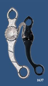 Concho Silver Inlay Bit - Blued