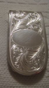 Sterling Overlay Money Clip - Pattern 656